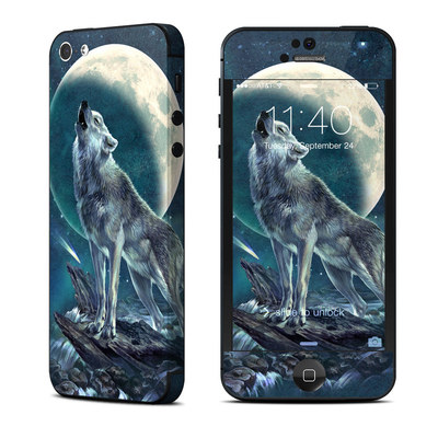 Apple iPhone 5 Skin - Howling Moon Soloist