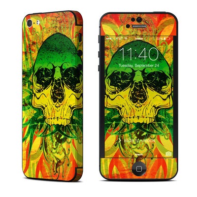Apple iPhone 5 Skin - Hot Tribal Skull