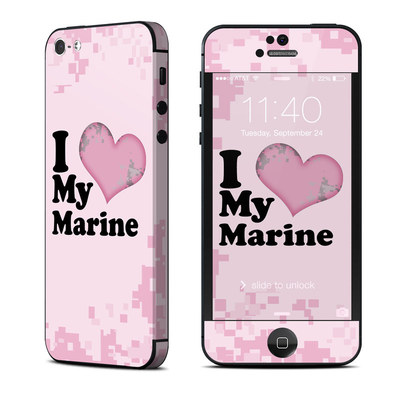 Apple iPhone 5 Skin - I Love My Marine