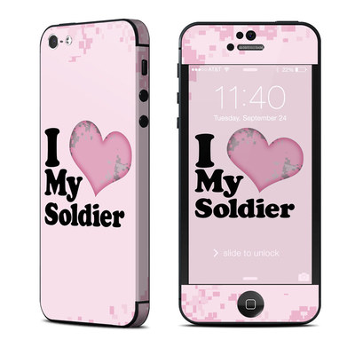Apple iPhone 5 Skin - I Love My Soldier