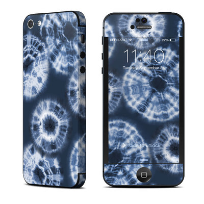 Apple iPhone 5 Skin - Indigo Tie Dye
