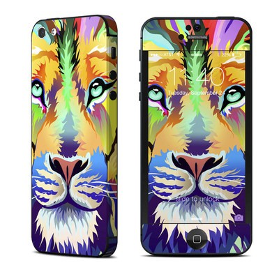 Apple iPhone 5 Skin - King of Technicolor
