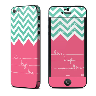 Apple iPhone 5 Skin - Live Laugh Love
