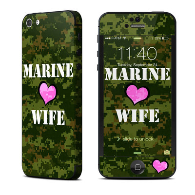 Apple iPhone 5 Skin - Marine Wife