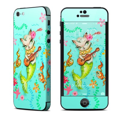 Apple iPhone 5 Skin - Merkitten with Ukelele