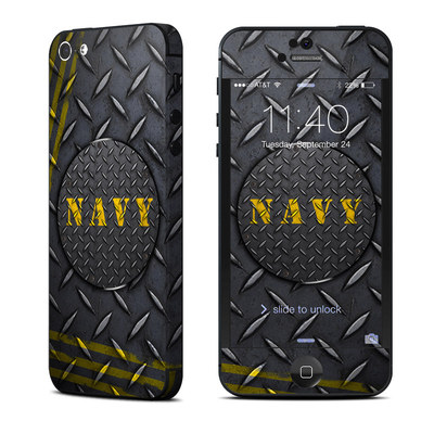 Apple iPhone 5 Skin - Navy Diamond Plate