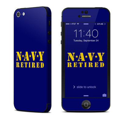 Apple iPhone 5 Skin - Navy Retired