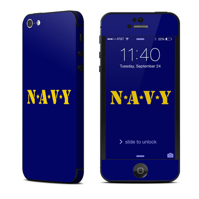 Apple iPhone 5 Skin - Navy