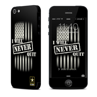 Apple iPhone 5 Skin - Never Quit