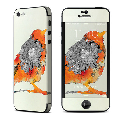 Apple iPhone 5 Skin - Orange Bird
