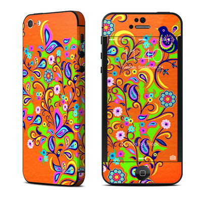 Apple iPhone 5 Skin - Orange Squirt