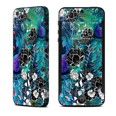 Apple iPhone 5 Skin - Peacock Garden