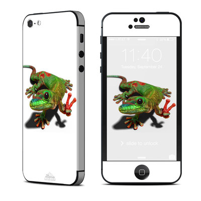 Apple iPhone 5 Skin - Peace Gecko