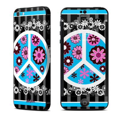 Apple iPhone 5 Skin - Peace Flowers Black