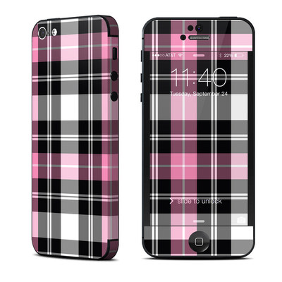 Apple iPhone 5 Skin - Pink Plaid