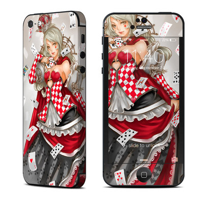 Apple iPhone 5 Skin - Queen Of Cards