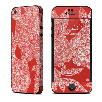 Apple iPhone 5 Skin - Red Dahlias