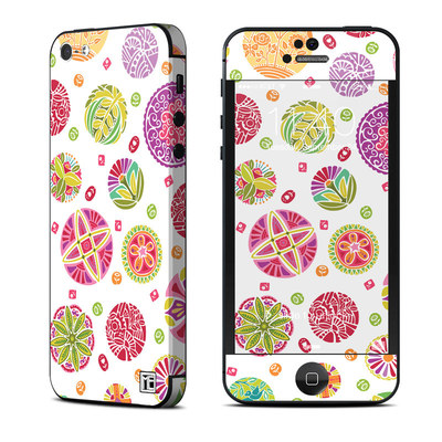 Apple iPhone 5 Skin - Round Flowers