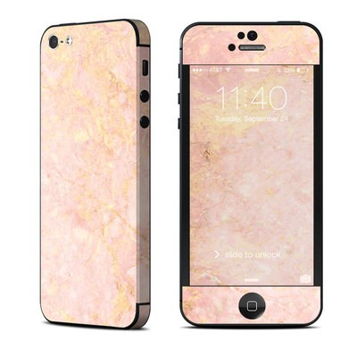 Apple iPhone 5 Skin - Rose Gold Marble