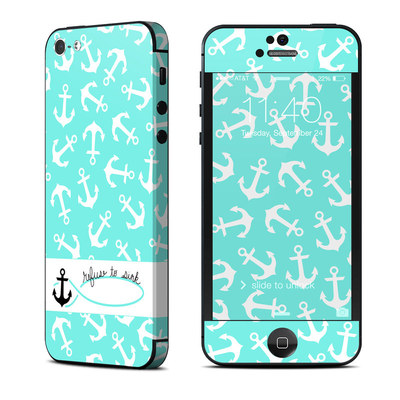 Apple iPhone 5 Skin - Refuse to Sink
