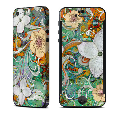 Apple iPhone 5 Skin - Sangria Flora