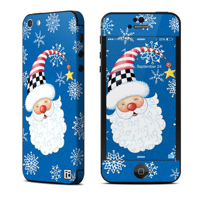 Apple iPhone 5 Skin - Santa Snowflake
