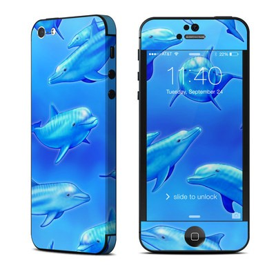 Apple iPhone 5 Skin - Swimming Dolphins