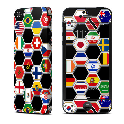 Apple iPhone 5 Skin - Soccer Flags