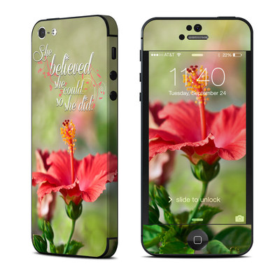 Apple iPhone 5 Skin - She Believed