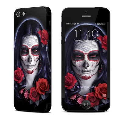 Apple iPhone 5 Skin - Sugar Skull Rose