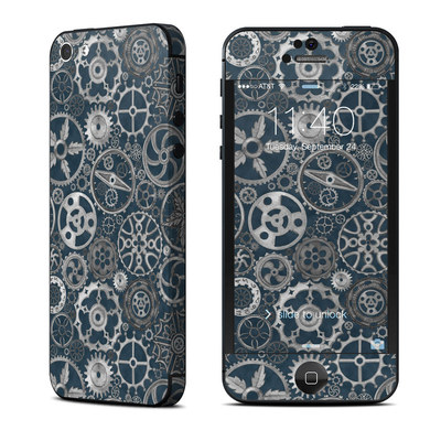 Apple iPhone 5 Skin - Silver Gears