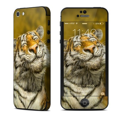 Apple iPhone 5 Skin - Smiling Tiger