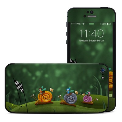 Apple iPhone 5 Skin - Snail Race