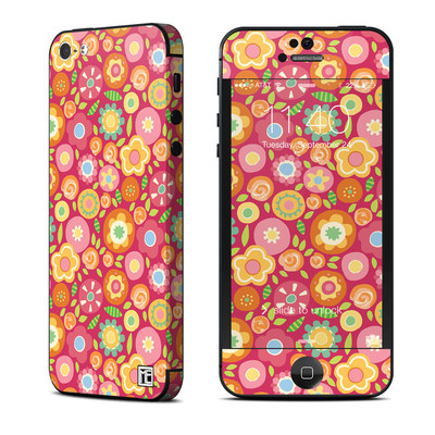 Apple iPhone 5 Skin - Flowers Squished