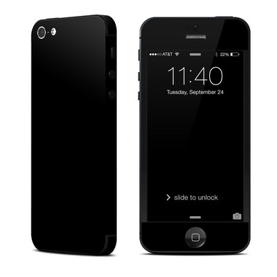 Apple iPhone 5 Skin - Solid State Black