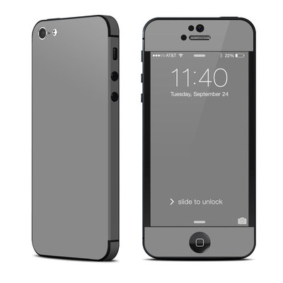 Apple iPhone 5 Skin - Solid State Grey
