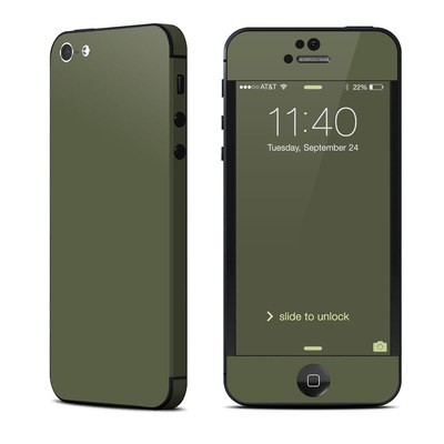 Apple iPhone 5 Skin - Solid State Olive Drab