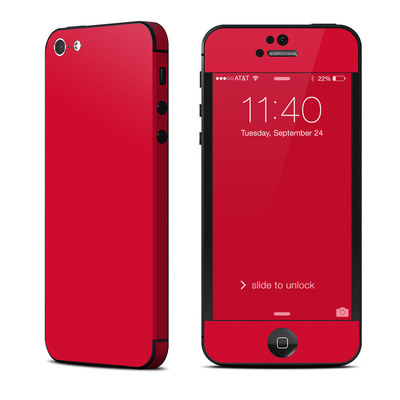 Apple iPhone 5 Skin - Solid State Red