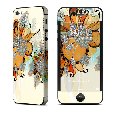 Apple iPhone 5 Skin - Sunset Flowers