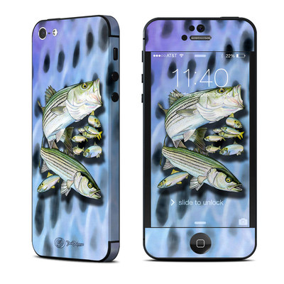 Apple iPhone 5 Skin - Striped Bass