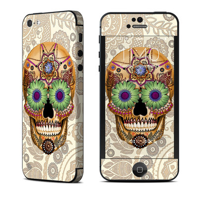 Apple iPhone 5 Skin - Sugar Skull Bone