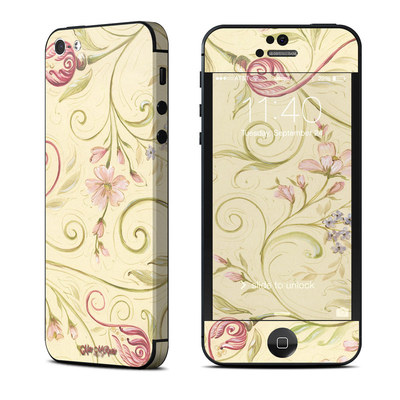 Apple iPhone 5 Skin - Tulip Scroll