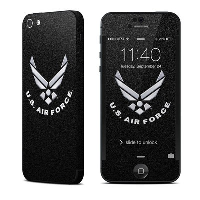 Apple iPhone 5 Skin - USAF Black