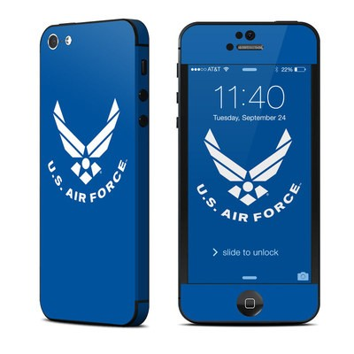 Apple iPhone 5 Skin - USAF Blue