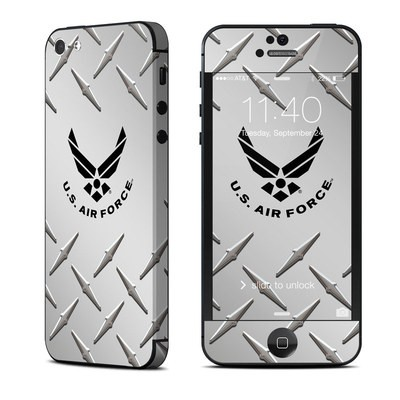Apple iPhone 5 Skin - USAF Diamond Plate