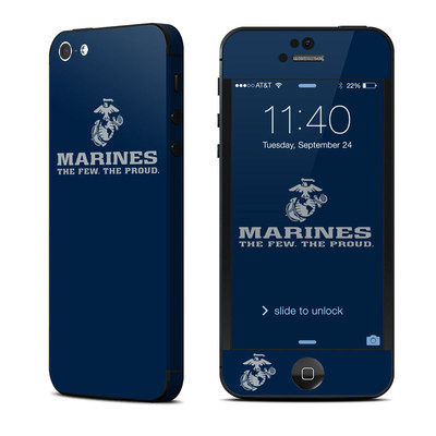 Apple iPhone 5 Skin - USMC Blue