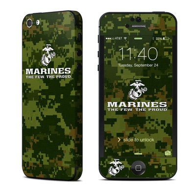 Apple iPhone 5 Skin - USMC Camo