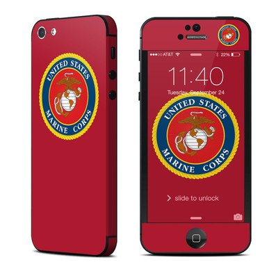 Apple iPhone 5 Skin - USMC Red