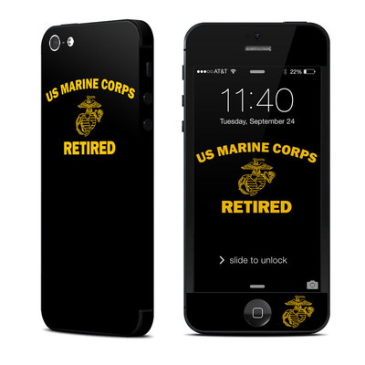 Apple iPhone 5 Skin - USMC Retired