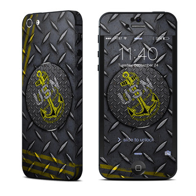 Apple iPhone 5 Skin - USN Diamond Plate